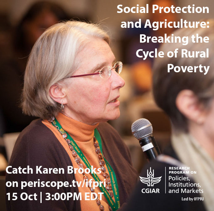 Seen on Periscope.tv: Karen Brooks speaking on social protection and agriculture for the World Food Day 2015
