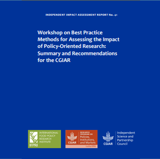 Report: Workshop on best practice methods for assessing the impact of policy-oriented research