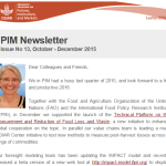 PIM Newsletter: October-December 2015
