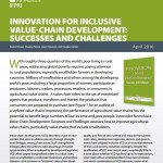 Book synopsis: Innovation for inclusive value-chain development: Successes and challenges