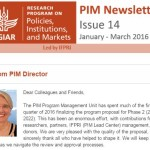 PIM Newsletter: January-March 2016