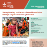 Strengthening resilience of rural households through improved social protection