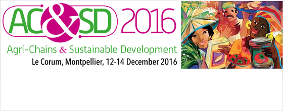 International conference on Agri-Chains and Sustainable Development: Registration open