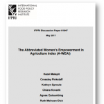 Discussion paper: The Abbreviated Women's Empowerment in Agriculture Index (A-WEAI)