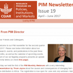 PIM Newsletter: April – June 2017