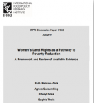 New paper discusses women's land rights as a pathway to poverty reduction