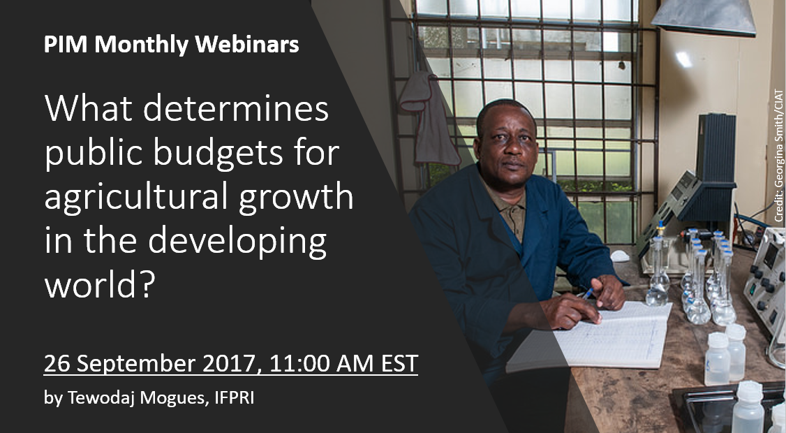 Webinar recording: What determines public budgets for agricultural growth in the developing world?