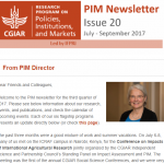 PIM Newsletter: July – September 2017