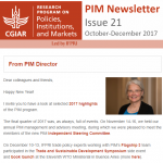 PIM Newsletter: October – December 2017