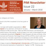 PIM Newsletter: January – March 2018