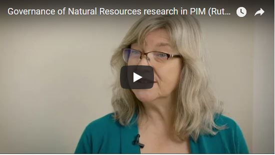 Governance of Natural Resources research in PIM