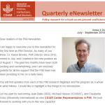 PIM Newsletter: July – September 2018