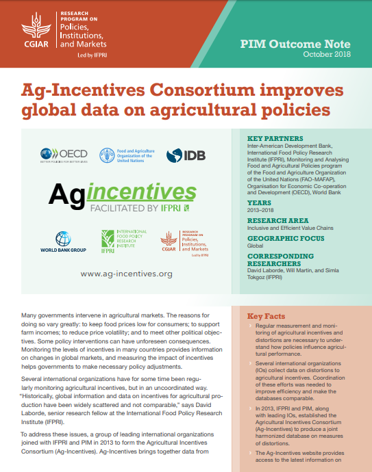 Ag-Incentives Consortium improves global data on agricultural policies