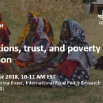 Webinar recording: Aspirations, trust, and poverty reduction