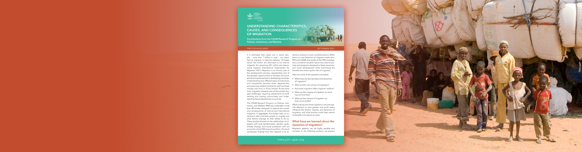 Understanding characteristics, causes, and consequences of migration: Contributions from the CGIAR Research Program on Policies, Institutions, and Markets